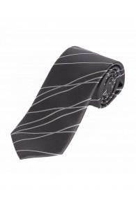 Optimale XXL-Krawatte Wellen-Dekor anthrazit