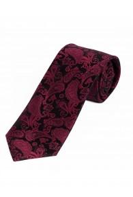 Modische XXL-Krawatte Paisley-Motiv bordeaux