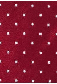 Lange Krawatte Pünktchen rot weiß