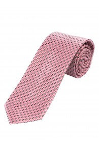 XXL-Herrenkrawatte Struktur-Pattern rosé schwarz