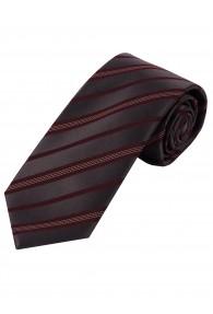 XXL-Krawatte Streifen dunkelbraun anthrazit