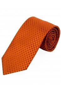 XXL-Krawatte Struktur-Pattern orange terracotta