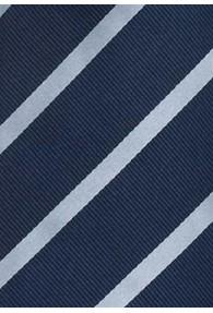 Clipkrawatte Streifen blau