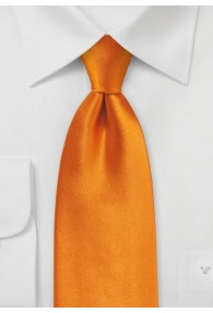 Einfarbige XXL-Krawatte helles orange