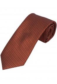 XXL-Krawatte Struktur-Dessin orange schwarz