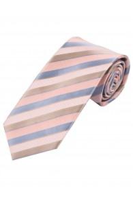 XXL-Krawatte Streifenmuster rosa hellblau silber