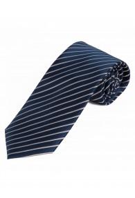 Krawatte schlank Streifenmuster marineblau silber