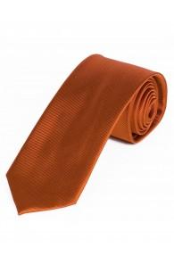 Schmale Krawatte unifarben orange