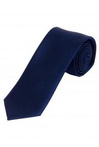 Krawatte schlank unifarben Streifen-Struktur navy