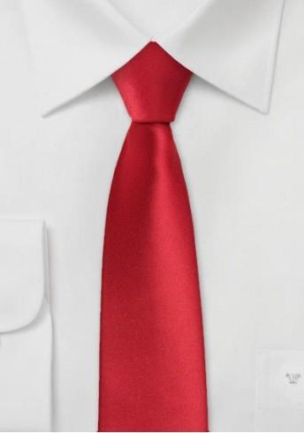 Schmale Krawatte in hellrot