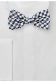 Schleife Vichy-Karo navy blau weiß
