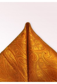 Kavaliertuch Paisley-Muster orange