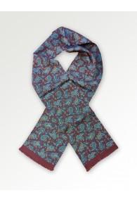 Krawattenschal Paisley-Motiv braunrot