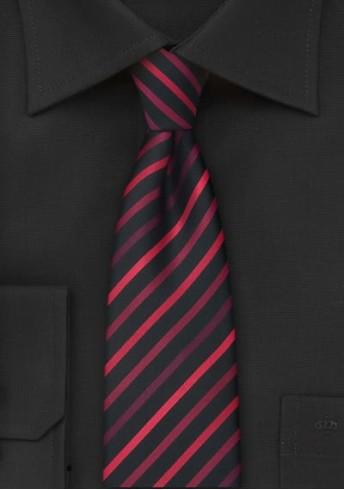Schmale Krawatte rote Streifen