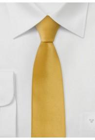Schmale Krawatte sommerliches Gelb