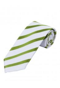 Krawatte Blockstreifen waldgrün perlweiß