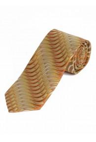 Krawatte Wellen-Muster goldgelb