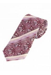 Krawatte florales Muster Streifen rose