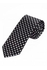 Schmale Krawatte edle Netz-Struktur tiefschwarz...