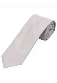 Satin-Krawatte Seide monochrom silber