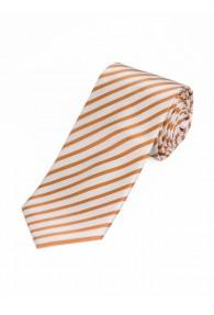 Krawatte dünne Linien perlweiß gelb