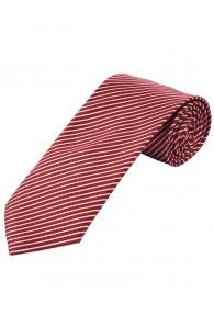 Krawatte dünne Streifen mittelrot weiß