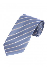 Krawatte dünne Linien himmelblau perlweiß