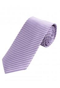 Krawatte dünne Linien flieder weiß
