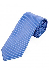 Krawatte dünne Streifen himmelblau schneeweiß