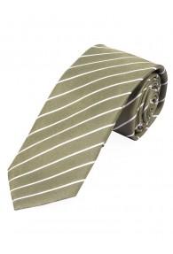 Businesskrawatte dünne Streifen braungrün perlweiß