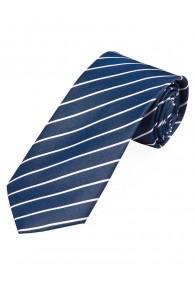 Krawatte dünne Streifen dunkelblau perlweiß