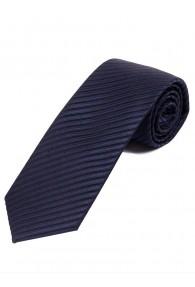 Krawatte dünne Streifen teerschwarz nachtblau