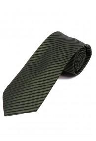 Krawatte dünne Streifen teerschwarz olivgrün