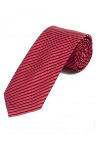 Krawatte dünne Streifen asphaltschwarz koralle