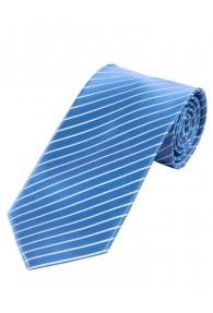 Krawatte dünne Streifen   blau und weiß