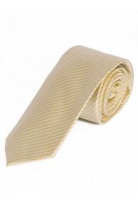 Krawatte dünne Linien perlweiß goldgelb