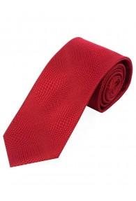 Schmale Krawatte rot Struktur-Dekor