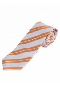 Streifen-Krawatte schneeweiß orange