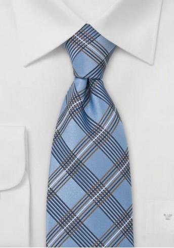XXL-Krawatte Glencheck blau kupfer