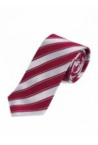 Streifen-Krawatte perlweiß rot