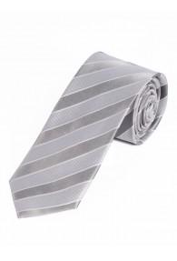 Streifen-Krawatte silber schneeweiß