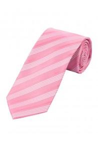 Streifen-Krawatte rose perlweiß