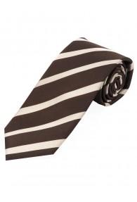 Streifen-Krawatte dunkelbraun beige