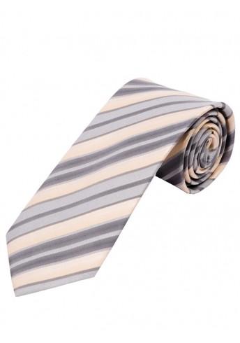 Streifen-Krawatte creme silbergrau