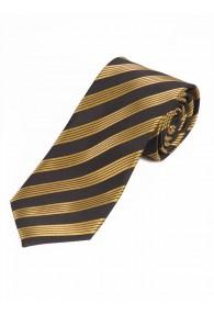 Streifen-Krawatte dunkelbraun gelb