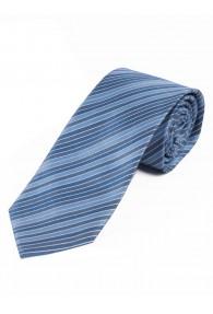 Businesskrawatte dünne Linien hellblau weiß