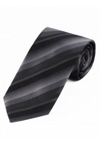 Streifen-Businesskrawatte silber schwarz