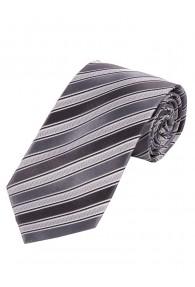 Krawatte dünne Streifen silber schneeweiß