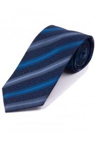 Businesskrawatte florales Muster Linien blau