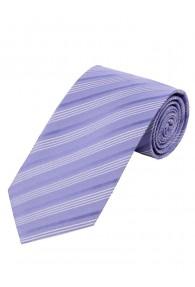 Businesskrawatte dünne Streifen flieder  perlweiß